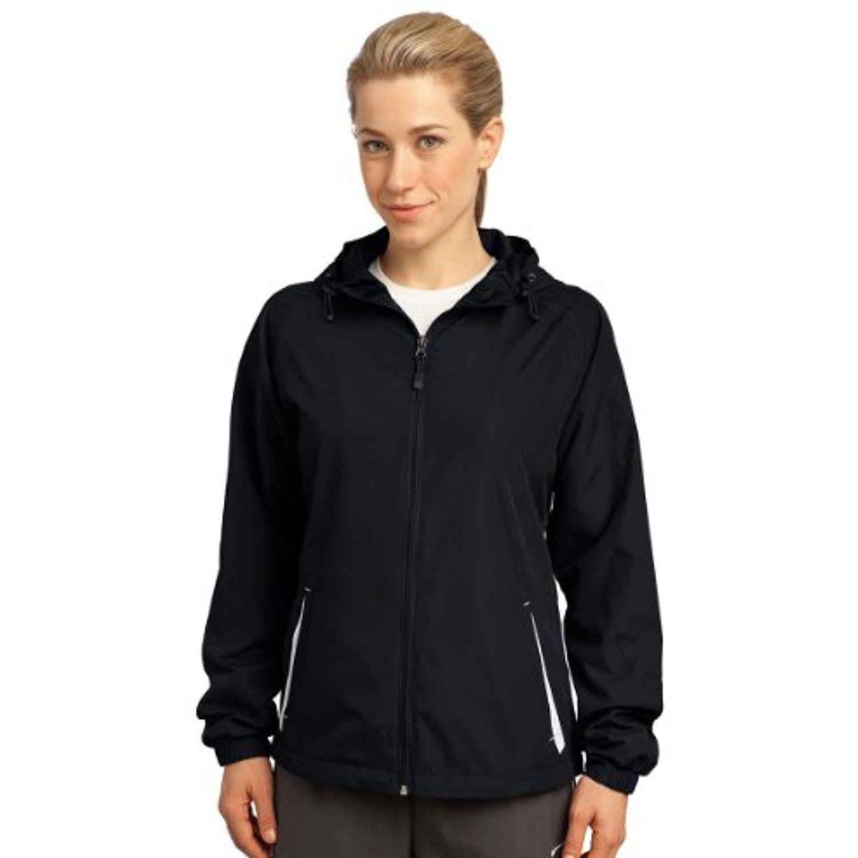 SportTek Ladies Colorblock Hooded Jacket. LST76 3XL