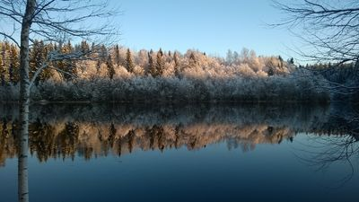 Cold beauty, Oulujoki, Finland