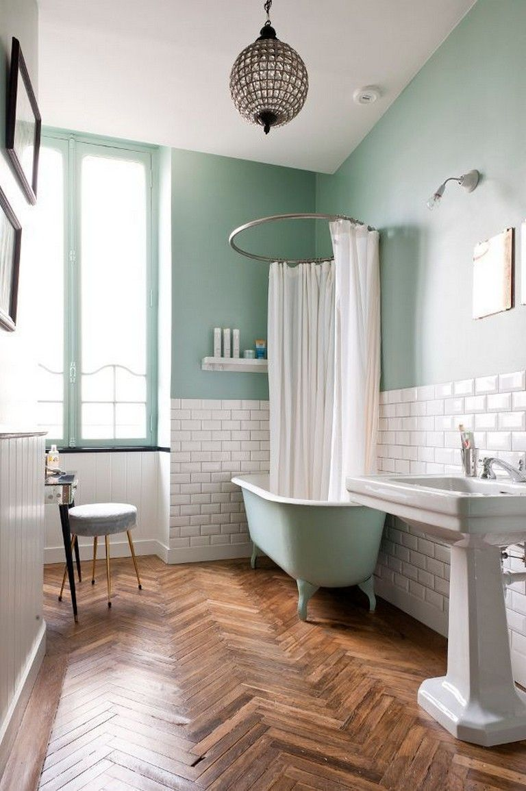 12 Awesome Flooring Bathroom Ideas and Makeover #bathroom