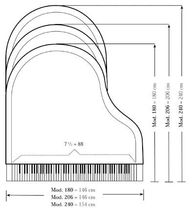 Baby grand dimensions i think it will fit all for Dimensions of baby grand piano