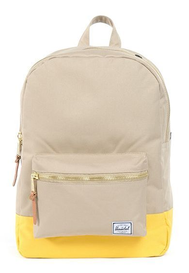 26e285b2635c Herschel Supply Co. Taupe   Yellow Mid-Volume Settlement Backpack ...