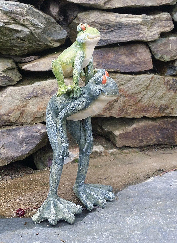 Garden Frog Stone Effect Home Patio Statue Ornament Indoor