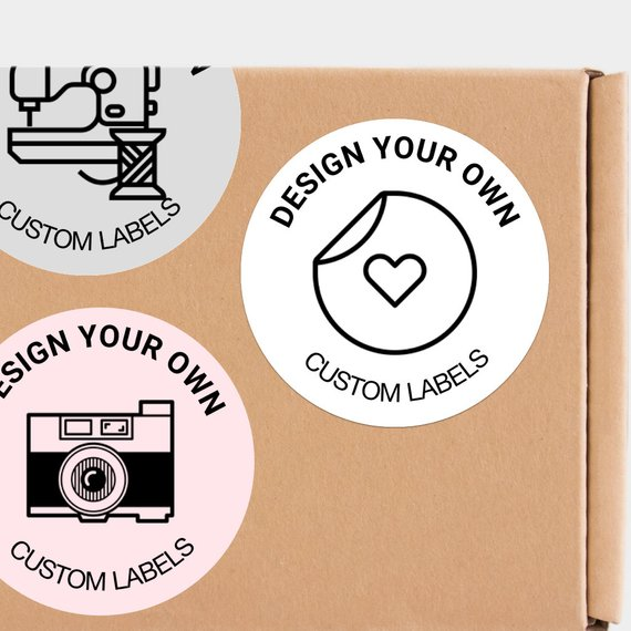 24 CUSTOM Label   Design Your Own Labels, Packaging Labels, Round