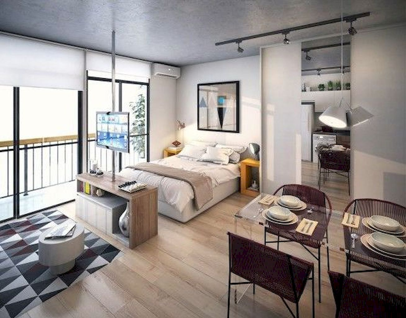 100+ Small Studio Apartment Layout Design Ideas