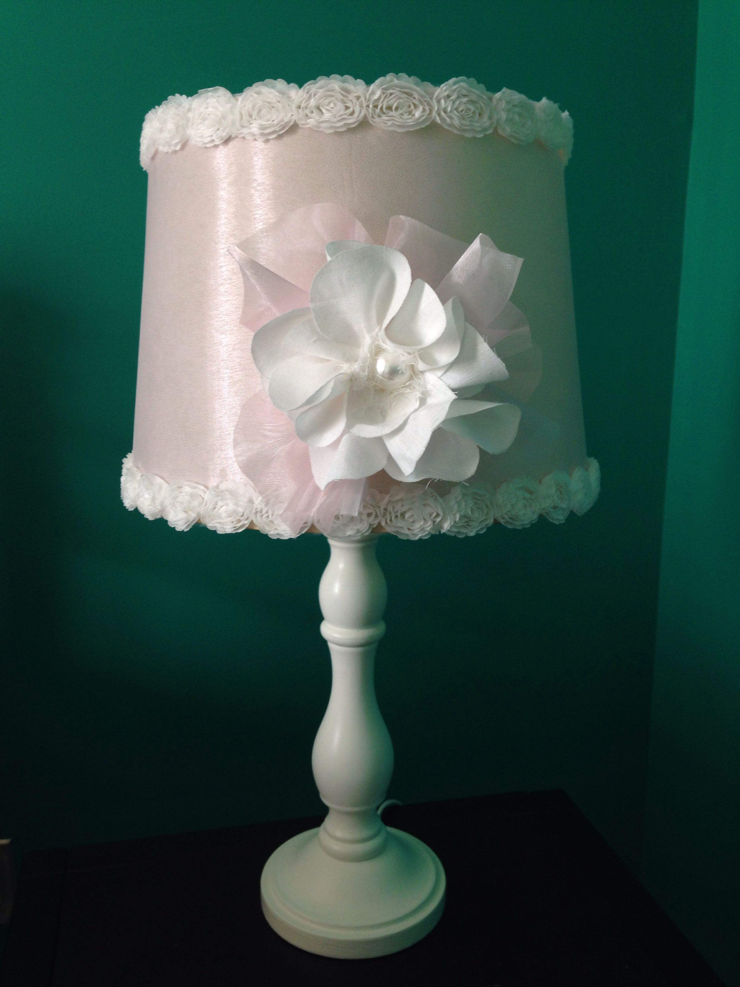 Thrift store lamp shade makeover added pink organza fabric and trim thrift store lamp shade makeover added pink organza fabric and trim both purchased at aloadofball Gallery