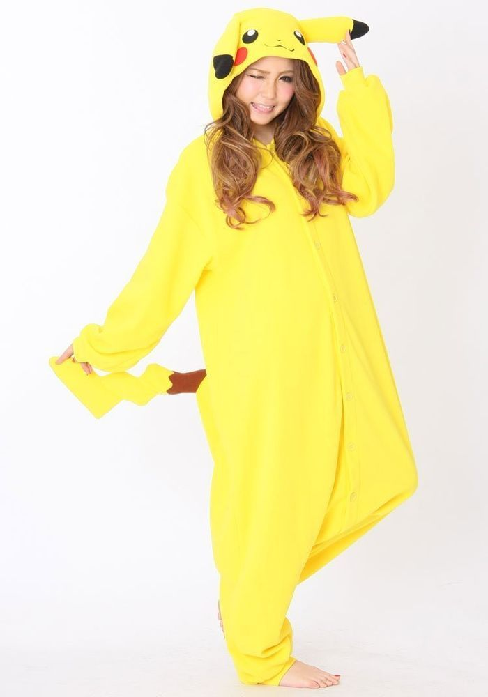 e038ac86 New! Pokemon Pikachu Kigurumi Plush Pajamas Cosplay Japan anime ...