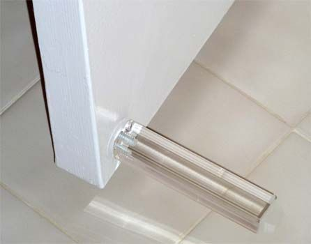 Contemporary Design Acrylic Baseboard Door Stop From The