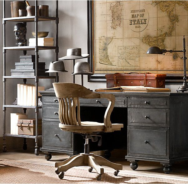 Our meticulously crafted collection offers the French industrial appeal of a burnished metal finish. A patina that grows richer over time adds warmth to the brushed surface, hand finished to rustic perfection. No two pieces are alike, making each item truly unique.