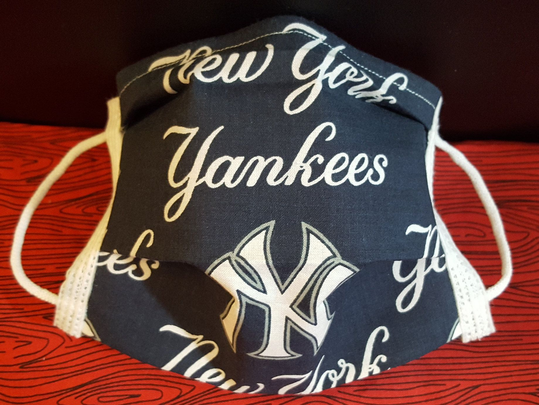 Yankees Inspired Germ Freak Designer Face Mask By Dena Tyson Baseball New York Yankees Major League Baseball Sports T In 2020 New York Yankees Face Mask Yankees