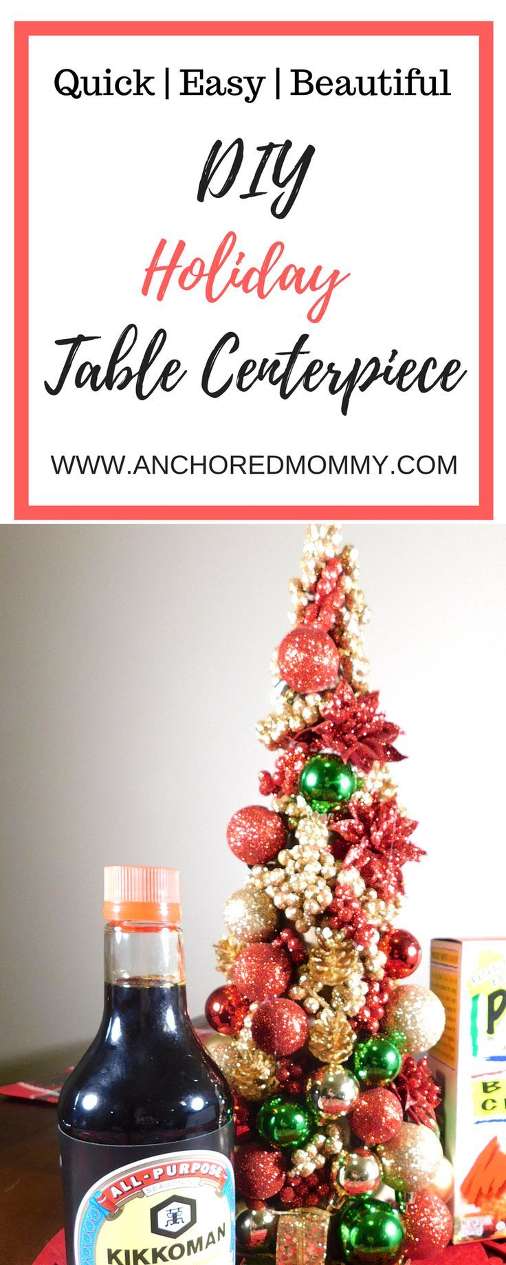 Easy DIY Holiday Centerpiece | Inexpensive centerpieces ...
