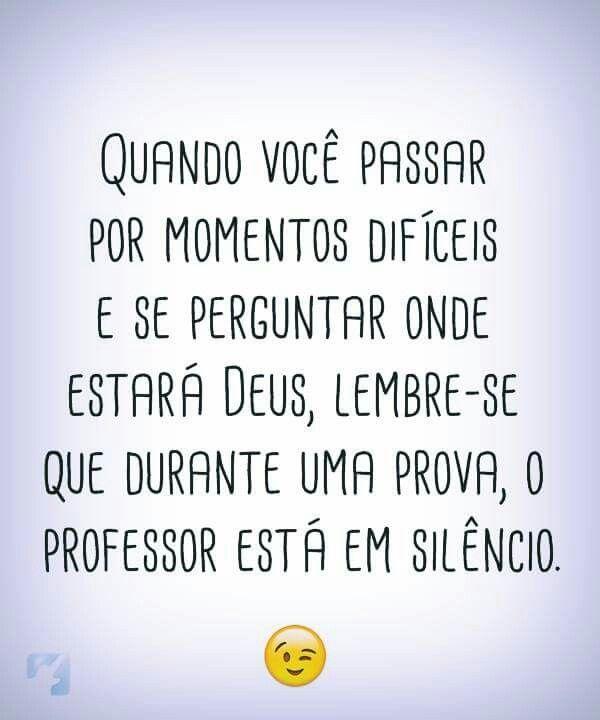 Durante a prova o professor está em silêncio.