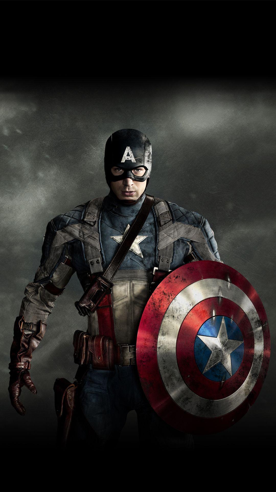 1,080×1,920 píxeles Captain america