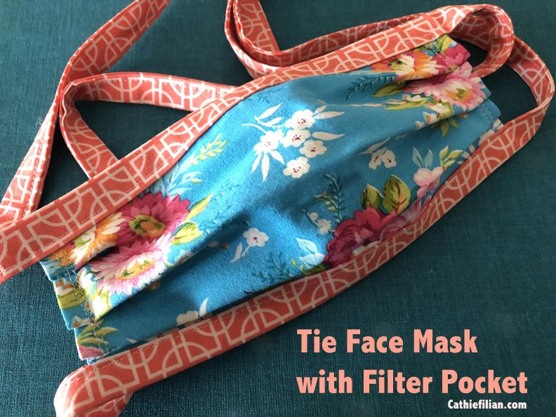 How To Sew A Face Mask With Ties And A Filter Pocket In 2020