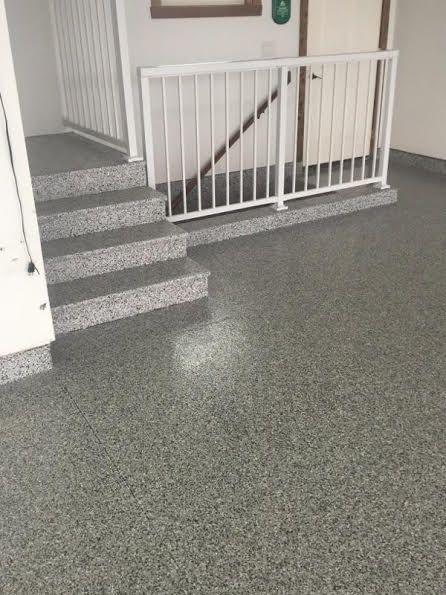 Hp Spartacote Granite Vinyl Flake Garage Polyaspartic Flooring