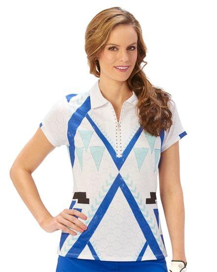 c1d604c8a9754 Nancy Lopez Faith Short Sleeve Polo- Available in three colors ...