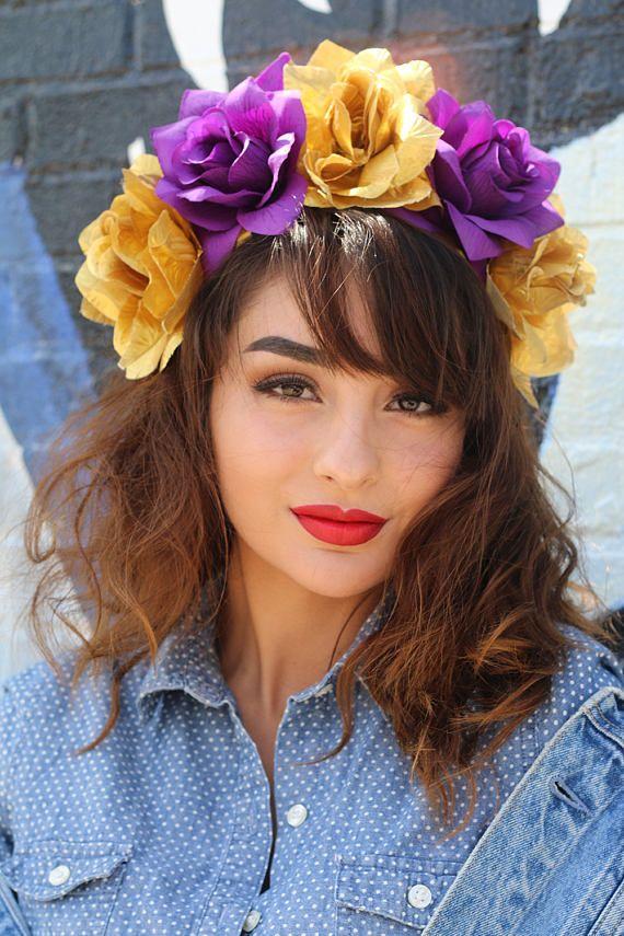 Mardi Gras Flower Crown HeadbandHeadpiece New OrleansCostume Headdress NOLA