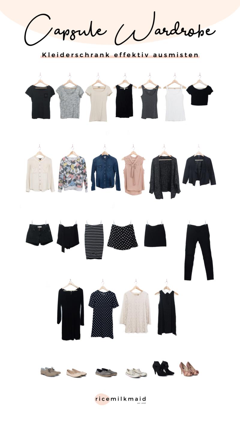 Wie erstellt man am besten eine minimalistische Garderobe? Lerne in diesem Beitrag das 5