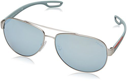 a58fed5dad Sport PS55QS QFP5K2 Silver Rubber PS55QS Aviator Sunglasses Lens Category