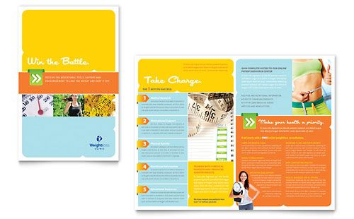 Weight Loss Clinic Brochure Template by @StockLayouts Medical - free brochure templates microsoft word