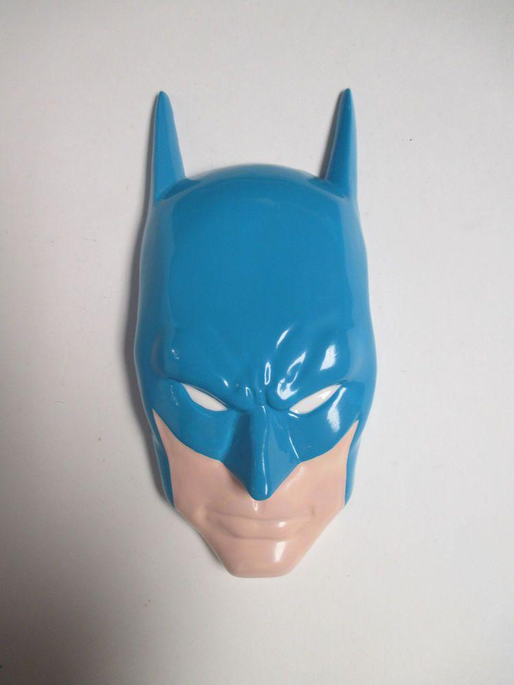BLUE BATMAN FACE WALL MASK PLAQUE DC COMICS HAMILTON GIFTS 1989 #HAMILTONGIFTS
