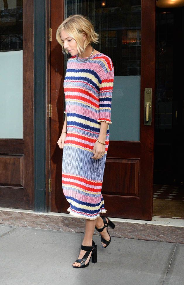 acef7338cc1 Sienna Miller in Celine sweater dress