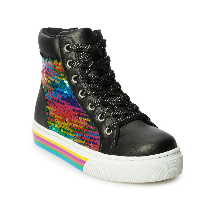 SO Island Girls' Sequin High Top Shoes
