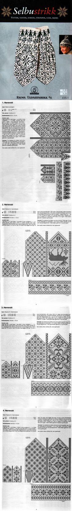 вязание   Strikking   Pinterest   Manopla, Mitones y Textiles