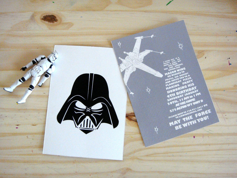 star wars party invitations invitation anniversaire star. Black Bedroom Furniture Sets. Home Design Ideas