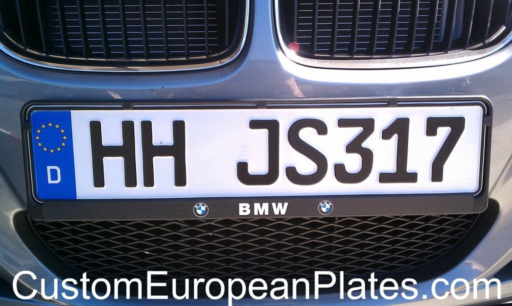 Custom German License Plate With Bmw Mounting Frame