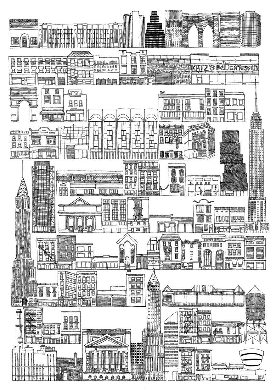 Your City Or Mine New York City New York By Sahar Ghanbari City Illustration Paris Map Cityscape