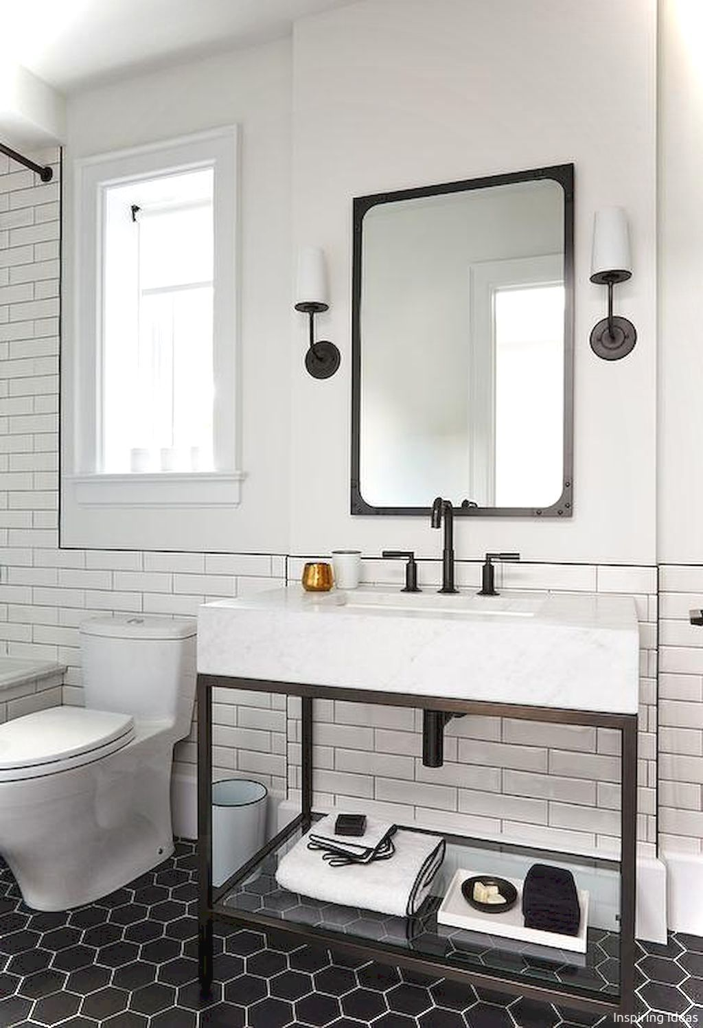 56 black and white bathroom design ideas   Bathroom ideas ...
