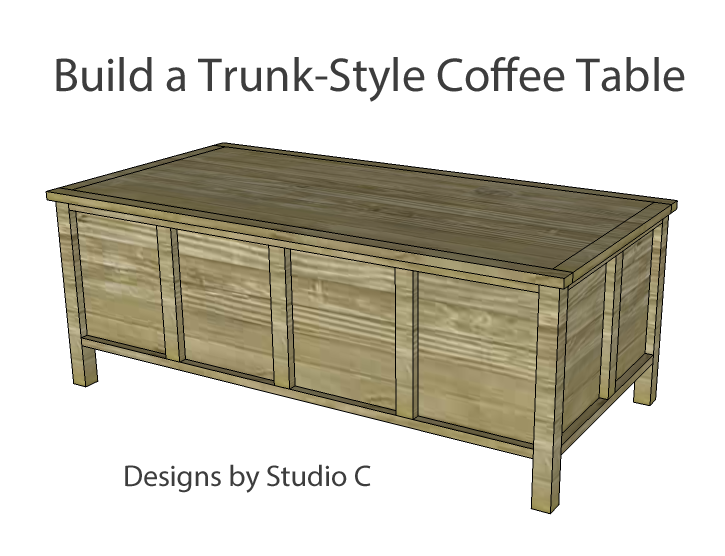 The Perfect Plans To Build A Trunk Style Coffee Table With Plenty Of Storage These Are Greatest Solution For