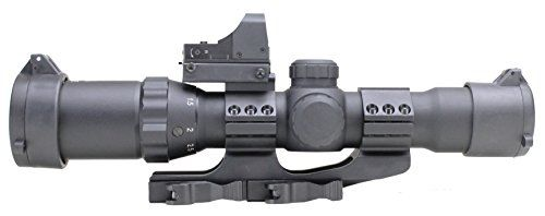 1-4×28 AR-15 Assualt Optic with Red Dot (P4 Sniper Reticle) Red, Green, Blue Illumination – Quick Release Mount Included  http://www.lookatcamera.com/1-4x28-ar-15-assualt-optic-with-red-dot-p4-sniper-reticle-red-green-blue-illumination-quick-release-mount-included-2/
