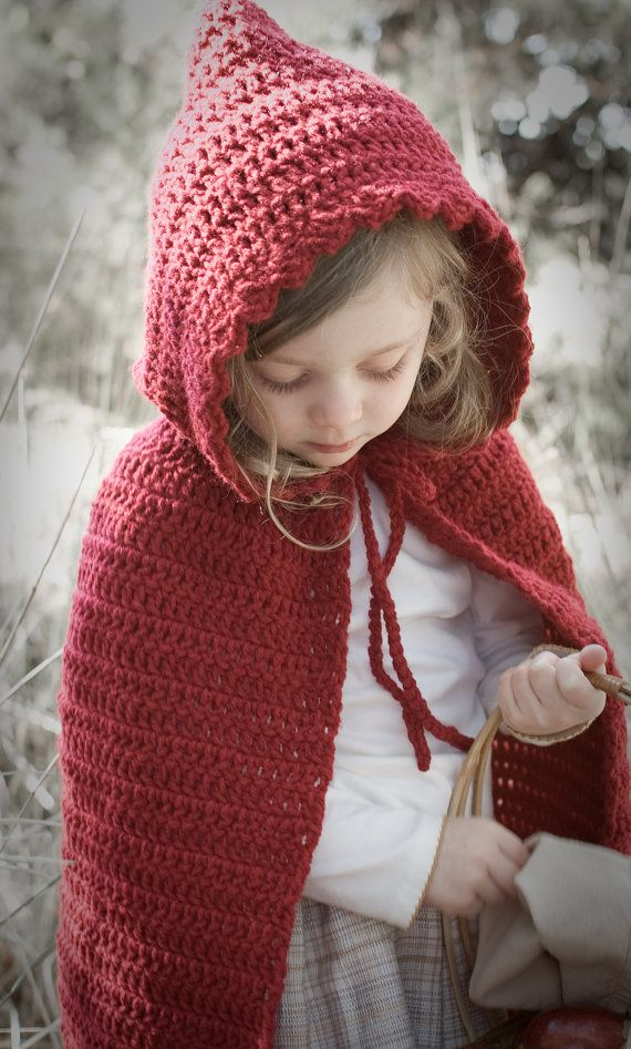 Little Red Riding Hood Cape- Crochet Pattern- Permission to sell ...