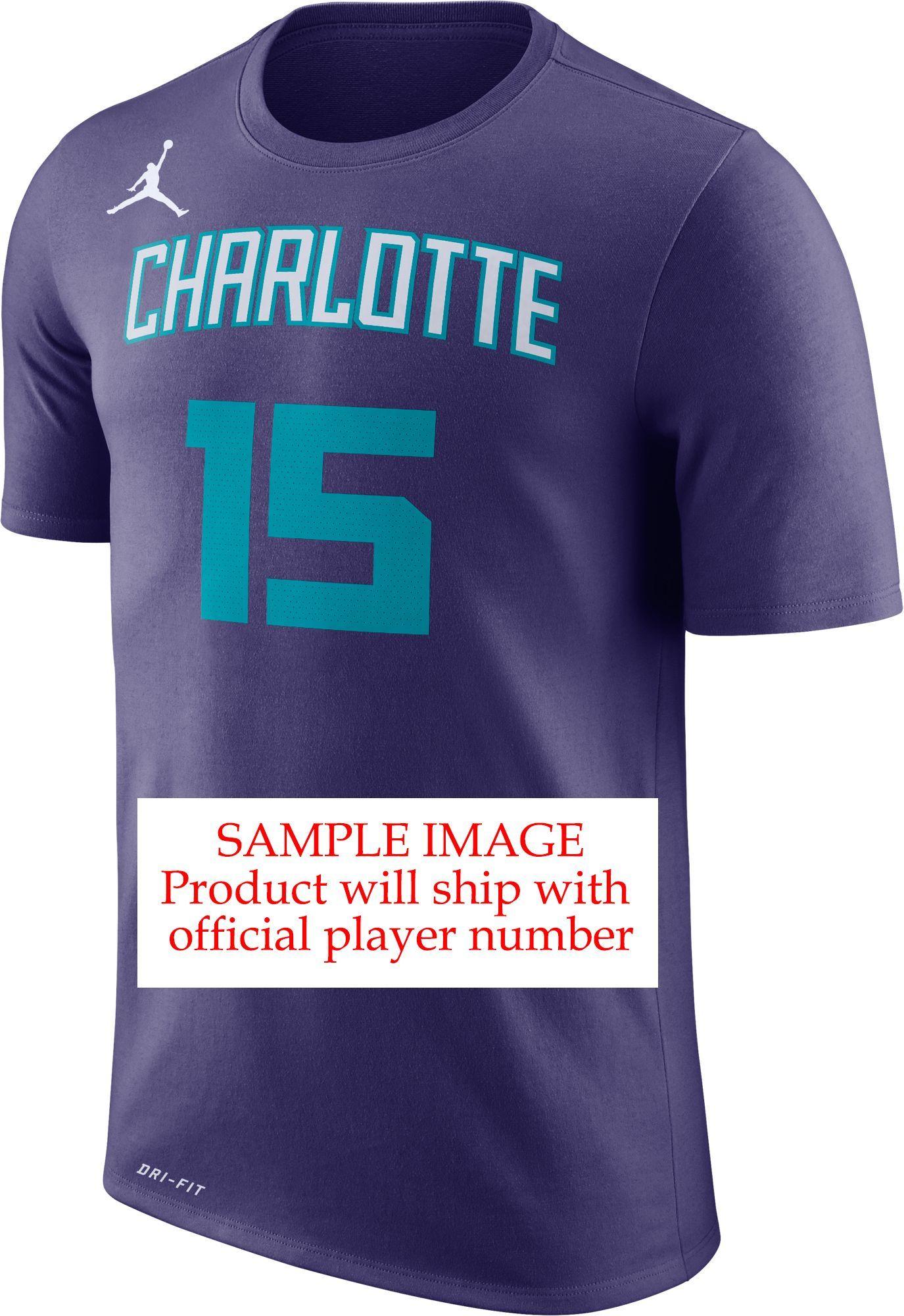 newest a06ad a14a0 Nike Men s Charlotte Hornets Miles Bridges  0 Dri-FIT Purple T-Shirt