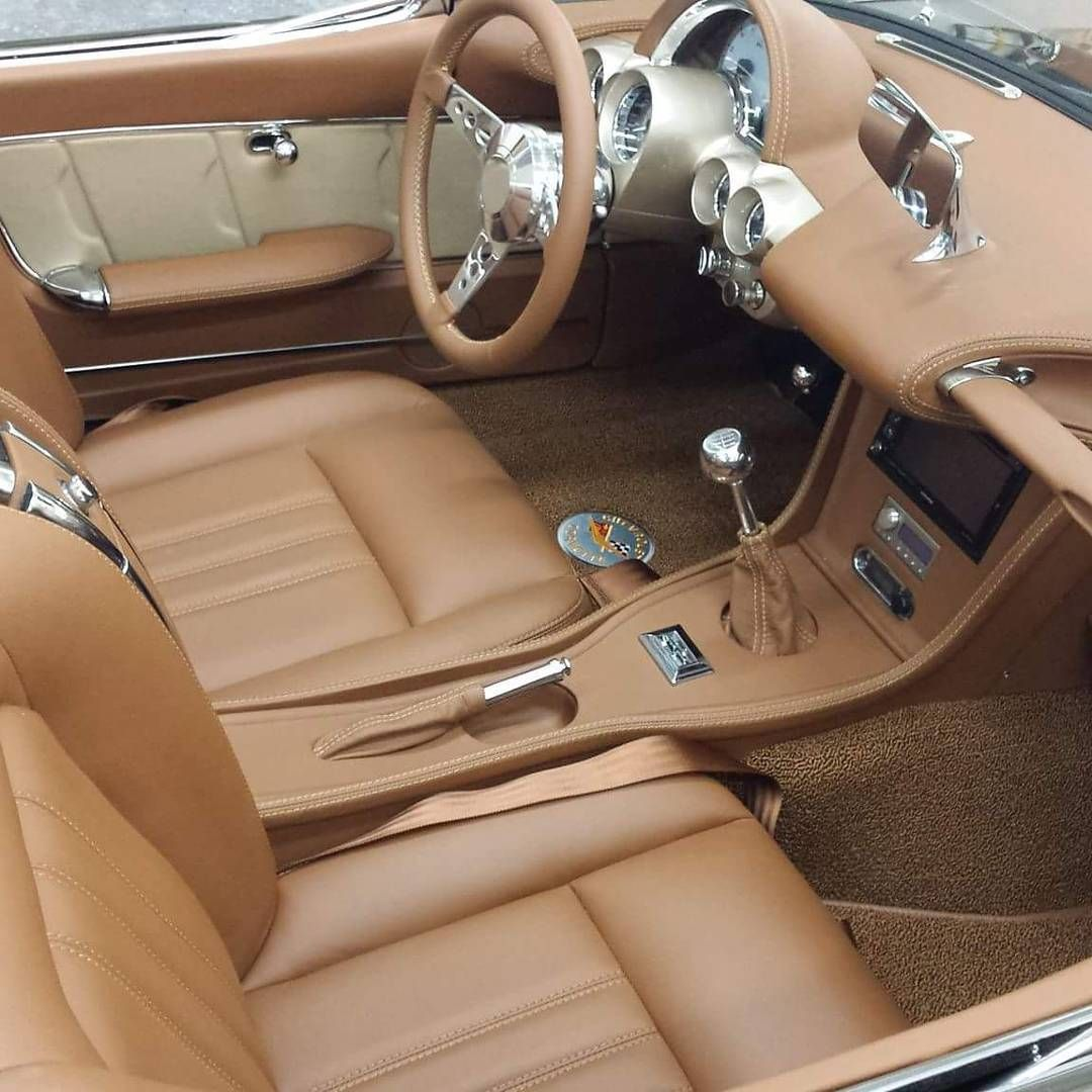 58 Corvette Interior Job Auto Upholstery Grey With Brown And Tan