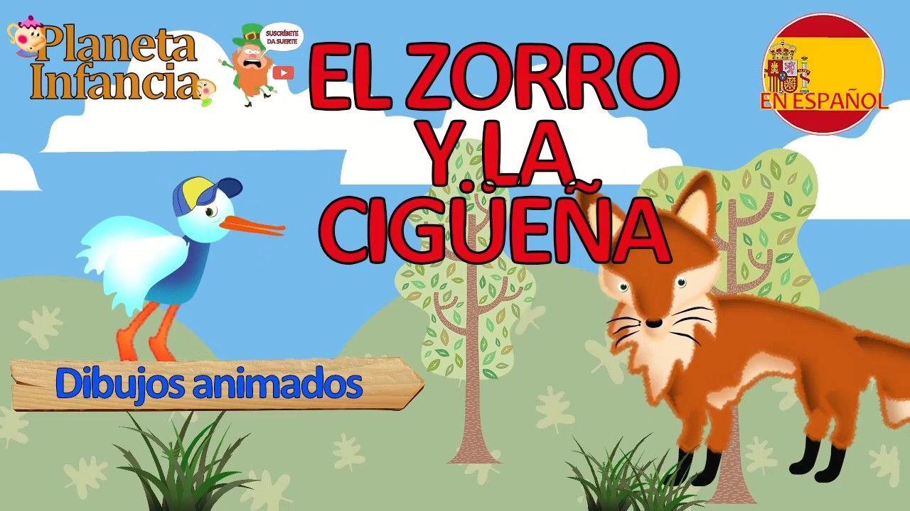 EL ZORRO Y LA CIGÜEÑA Fabulas Infantiles Cuentos cortos para niños moral...  | Cuentos cortitos, Fabulas, Fabulas para ninos