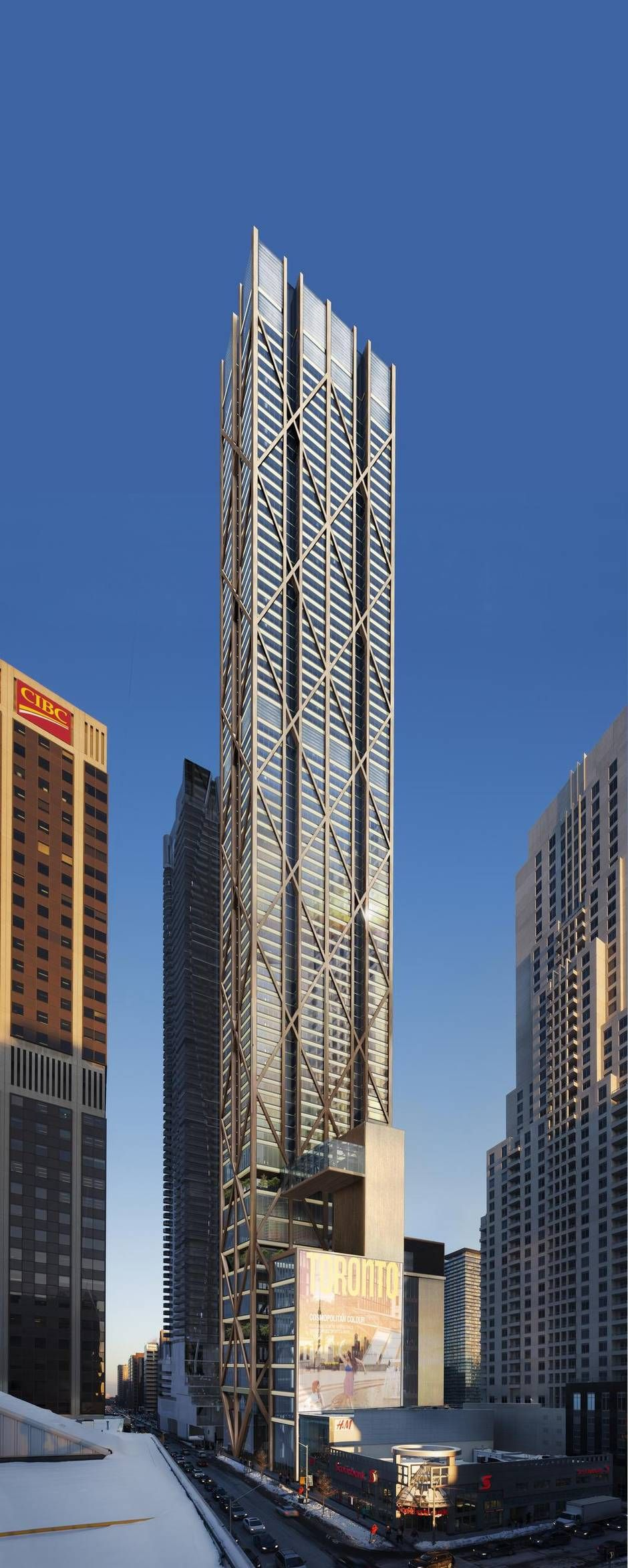First Look New Yonge And Bloor Tower Would Be Toronto S Tallest Building Tower Skyscraper Architecture