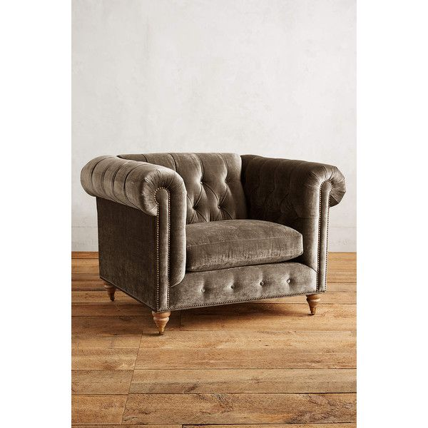home and furniture chesterfield. anthropologie slub velvet lyre chesterfield armchair 1698 liked on polyvore featuring home and furniture a