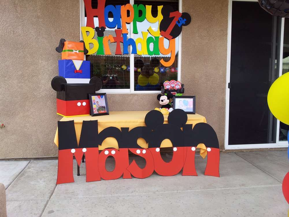 Mickey Mouse Clubhouse Birthday Party Ideas | Mickey mouse, Mice ...