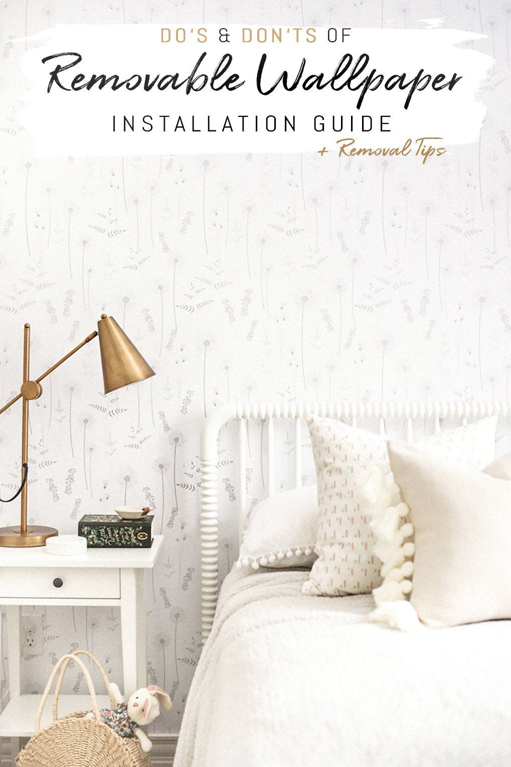 Removable Wallpaper Do S And Don Ts How To Install And Remove Self Adhesive Wallpaper Kids Room Wallpaper Removable Wallpaper Bedroom Makeover