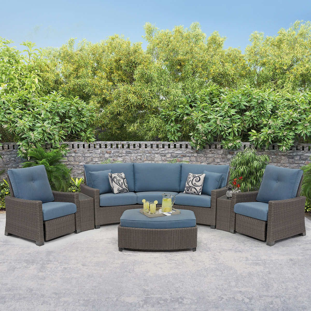 Barcalounger Stevens Point Theater Set In 2021 Lake House Patio Patio Remodel Modern Wicker Patio Furniture