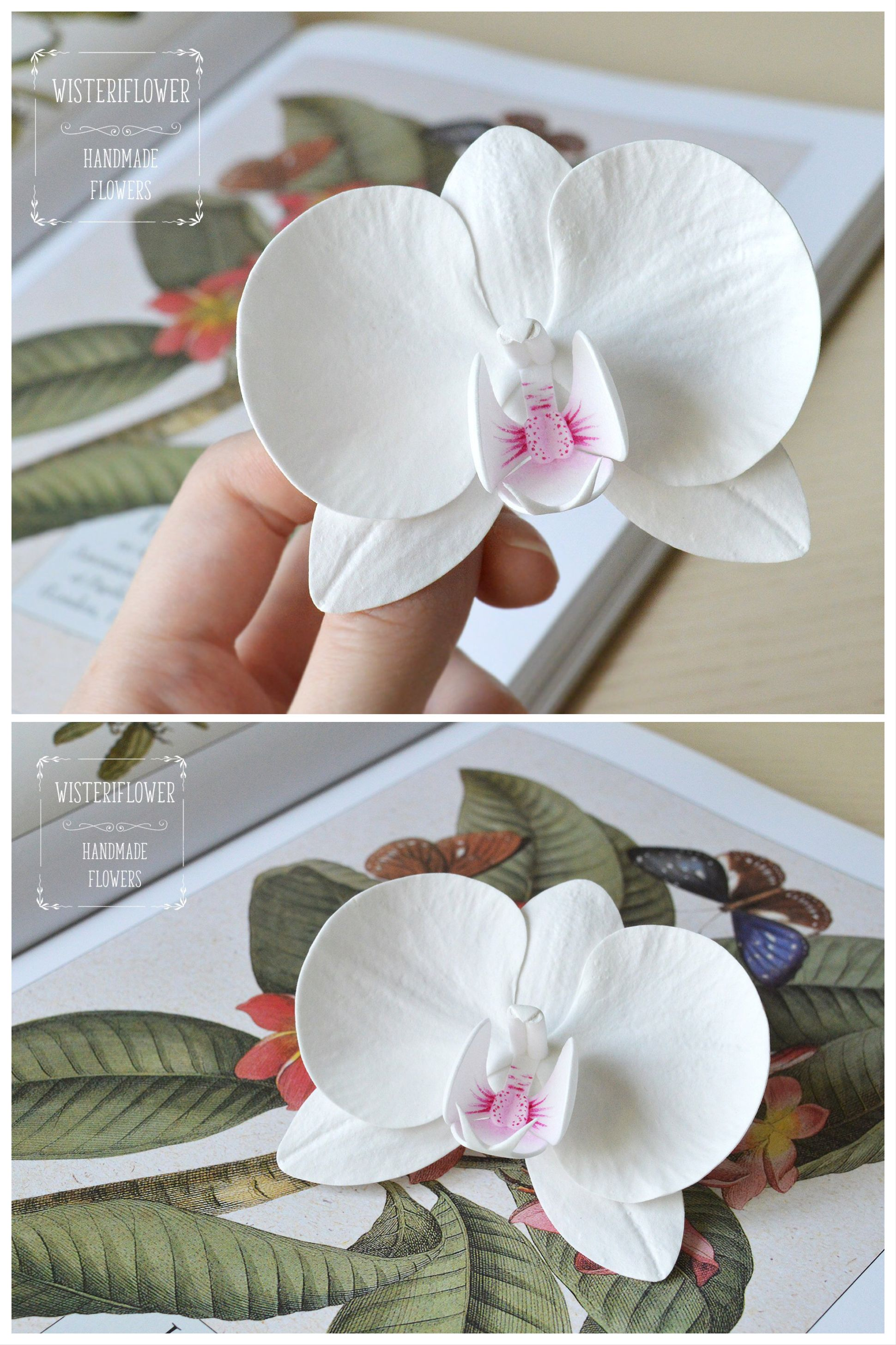 Orchid Hair Clip Tropical Wedding Hair Piece Orchid Flower Etsy In 2020 Bride Hair Accessories Tropical Wedding Wedding Hair Flowers