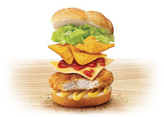 Kfc Australia Nacho Burger Crispy Chicken Fillet Corn