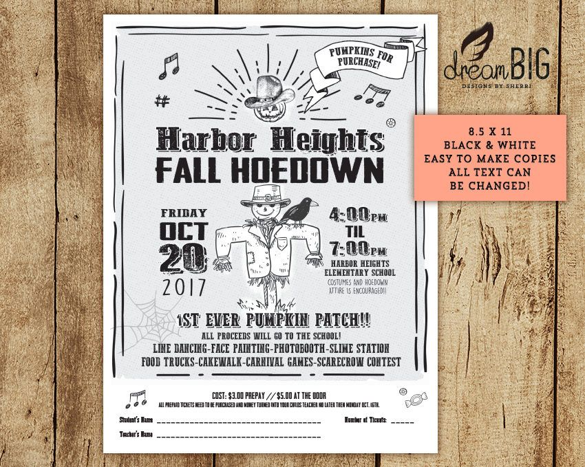 Halloween Hoedown Classroom Party Invitation // Country Music ...