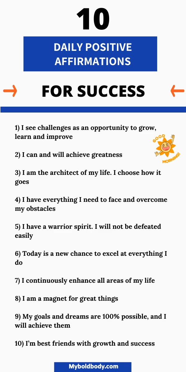 30 Positive Daily Affirmations For Success, Confidence And Happiness