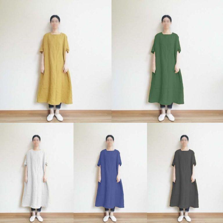 型紙 作り方 簡単aラインのワンピース ハンドメイド洋裁ブログ yanのてづくり手帖 簡単大人服 子供服 小物の無料型紙と作り方 ワンピース 型紙 無料 ドレス 作り方 ドレスの縫製型紙