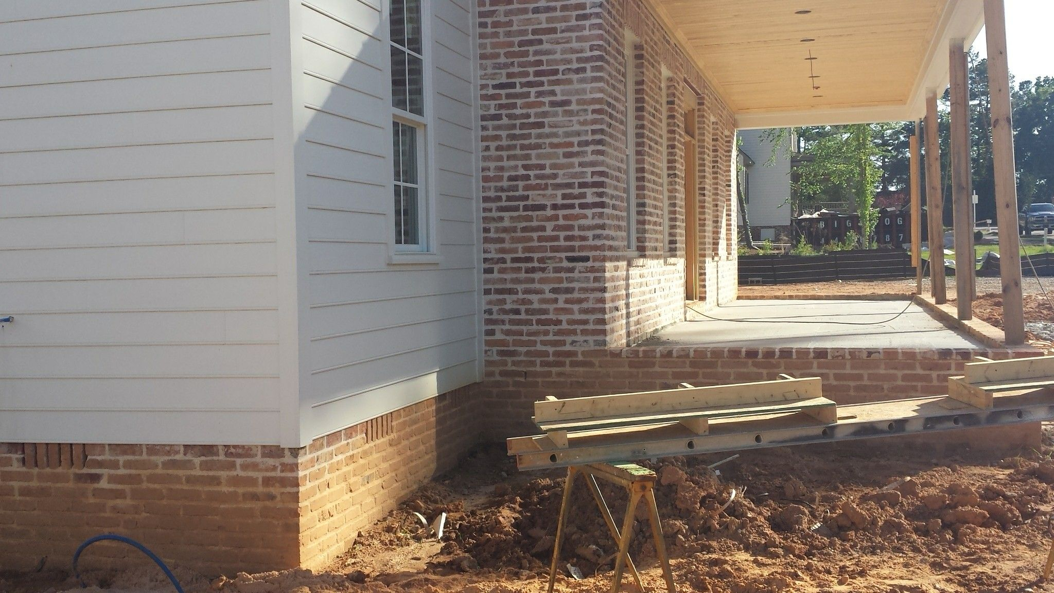 Brick And Siding Transitions Outdoor Decor Patio House Plans