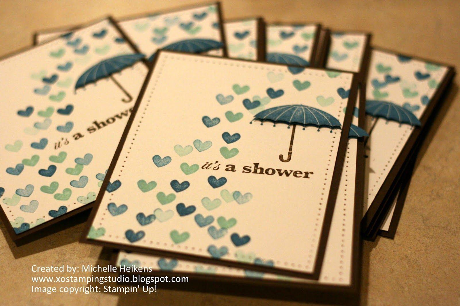Baby shower invites stampin up rain or shine michelle heikens baby shower invites stampin up rain or shine michelle heikens xostampingstudiospot filmwisefo