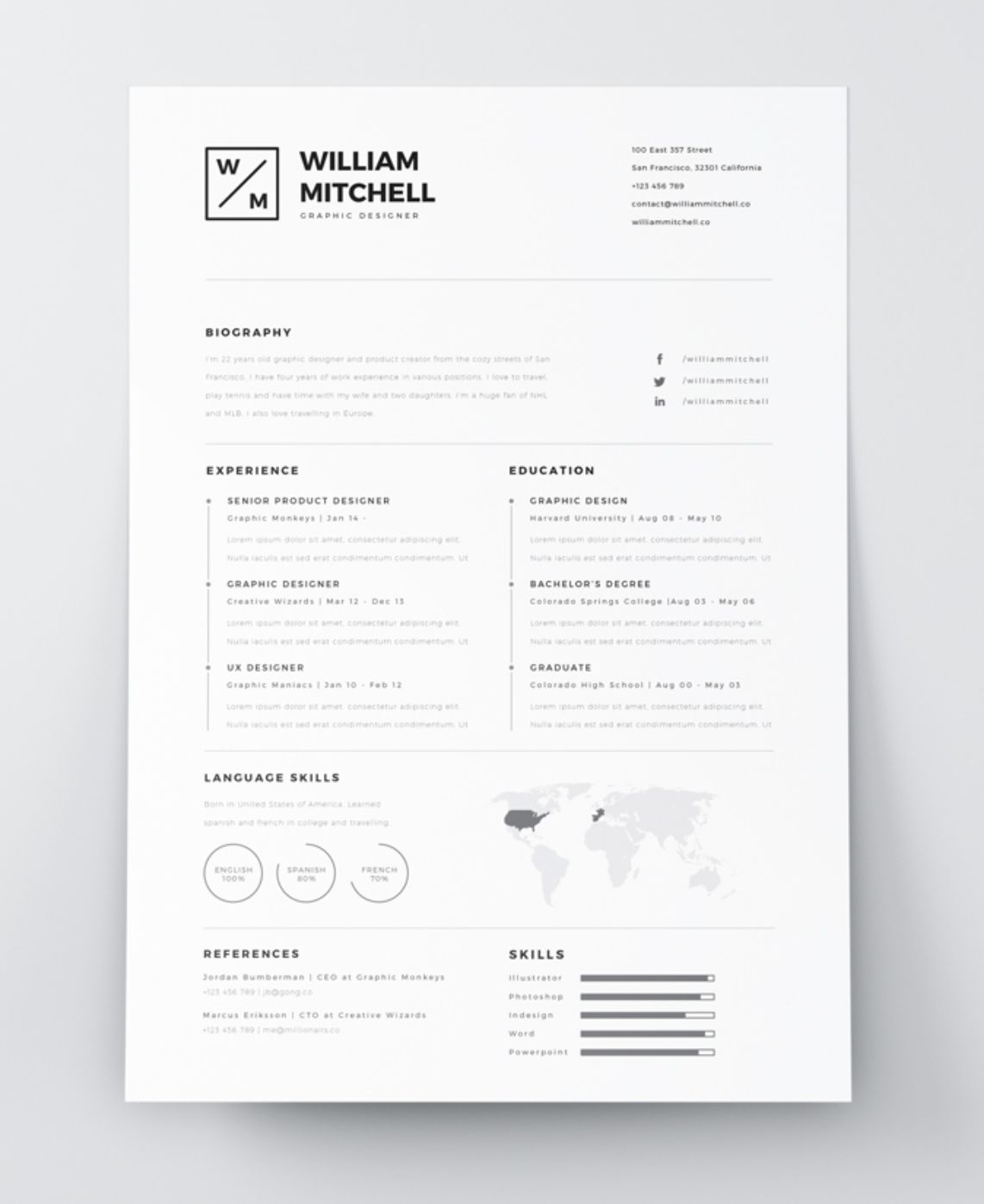29+ Indesign resume template 2019 Examples